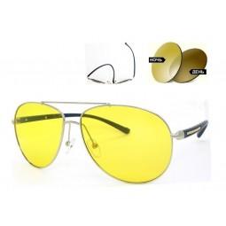 Очки для водителей 2362 TR 90 хамелеон антифары желтые