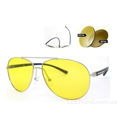 Очки для водителей 2362 TR 90 фотохромные желтые