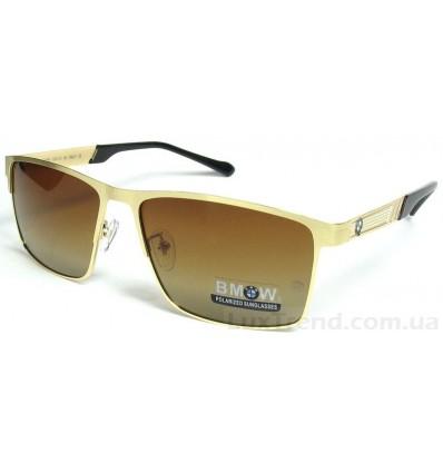 Солнцезащитные очки BMW 609 градиент золото-коричневые