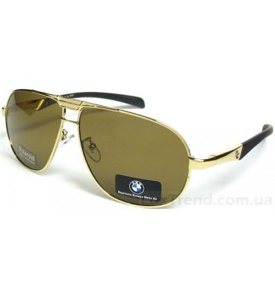 Солнцезащитные очки BMW 10011 золото-коричневые