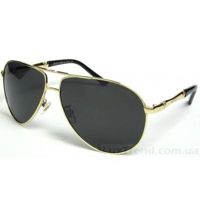 Солнцезащитные очки 077 круглые бело-бежевые