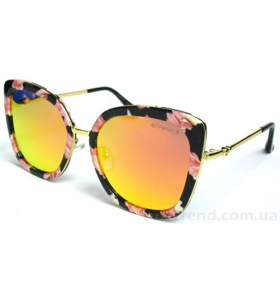 Солнцезащитные очки 3025 зеркальные золото / оранж