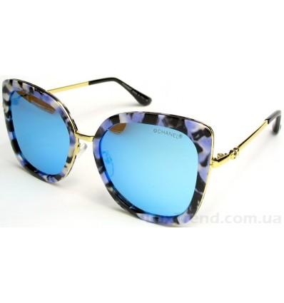 Солнцезащитные очки CHANEL 16075 зеркальные голубые