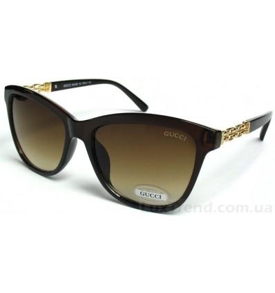 Солнцезащитные очки Gucci 228 градиентные коричневые