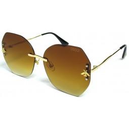 Солнцезащитные очки Gucci 2021 градиентные коричневые