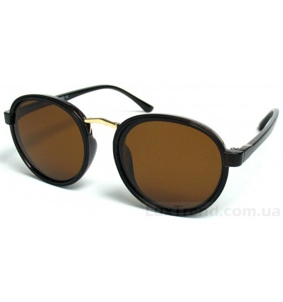 Солнцезащитные очки 0927 круглые коричневые
