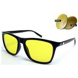 Очки для водителей 387 Aluminium фотохромные желтые