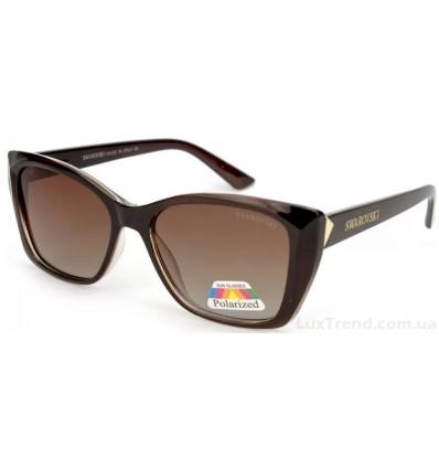 Солнцезащитные очки SWAROVSKI 2055 поляризационные коричневые