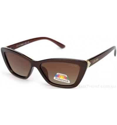 Солнцезащитные очки CELINE 2120 поляризационные коричневые