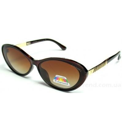 Солнцезащитные очки CHANEL 2133 поляризационные коричневые