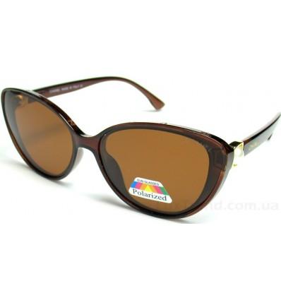 Солнцезащитные очки CHANEL 2080 поляризационные коричневые