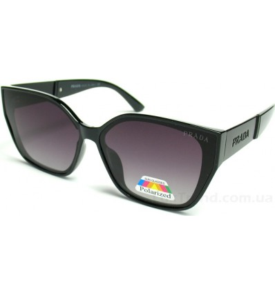 Солнцезащитные очки PRADA 2128 поляризационные черные