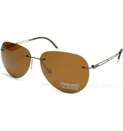 Солнцезащитные очки Silhouette 9950 поляризационные коричневые