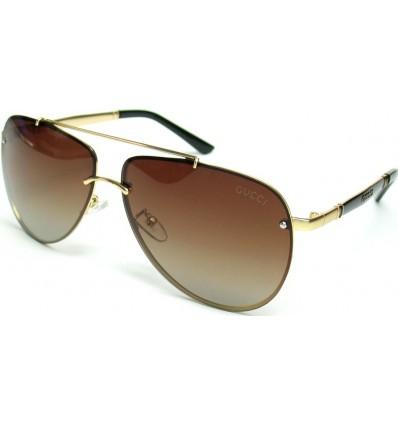 Солнцезащитные очки GUCCI 2582 поляризационные авиаторы (капли) кор