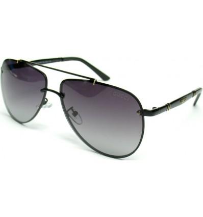 Солнцезащитные очки GUCCI 2582 поляризационные авиаторы (капли) чер