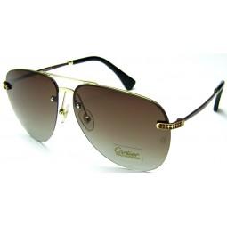 Солнцезащитные очки Cartier 0692 золото / коричневые
