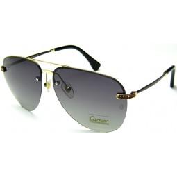 Солнцезащитные очки Cartier 0692 золото / серые