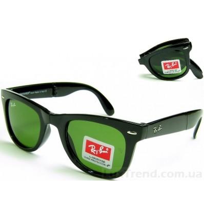 Солнцезащитные очки Ray-Ban 4105 Folding Wayfarer черные глянец