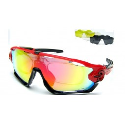 Солнцезащитные очки Oakley Jawbreaker красно-черные