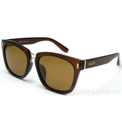 Солнцезащитные очки Gucci 2017 коричневые
