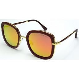 Солнцезащитные очки Miu Miu 15029 зеркальные красные