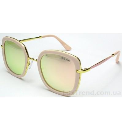 Солнцезащитные очки Miu Miu 15029 зеркальные розовые