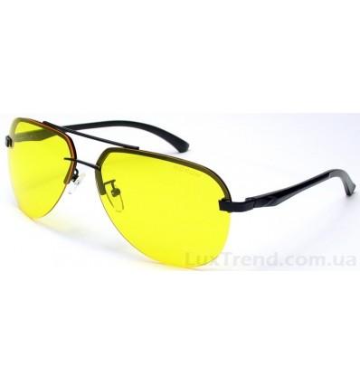 Очки для водителей 143 Aluminium желтые