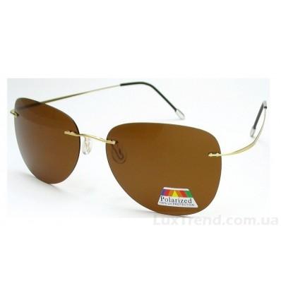 Солнцезащитные очки 76123 Titanium золото / коричневые