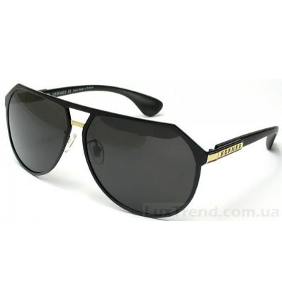 Солнцезащитные очки HERMES 8807 черные-золото