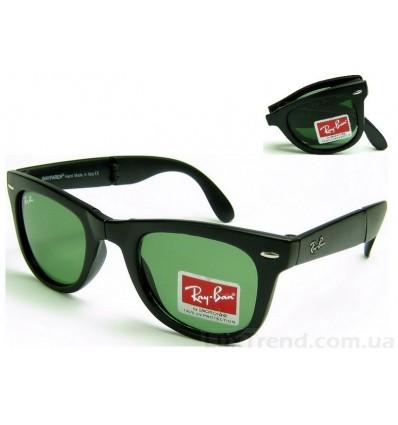 Солнцезащитные очки Ray-Ban 4105 Folding Wayfarer черные мат