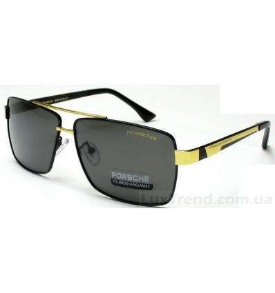 Солнцезащитные очки PORSCHE DESIGN 8712 черные с золотом