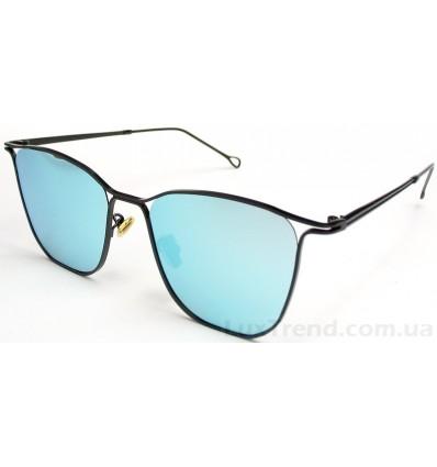 Солнцезащитные очки 80617 голубые / зеркальные