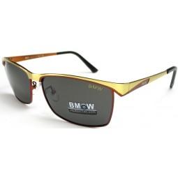 Солнцезащитные очки BMW 735 золото с красным