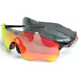 Солнцезащитные очки Oakley EVZero Path PRIZM черно-красные