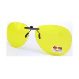 Клипсы накладки для водителей желтые на очки оптические