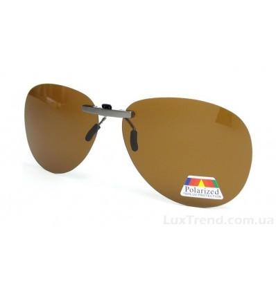 Клипсы накладки для водителей коричневые на очки оптические