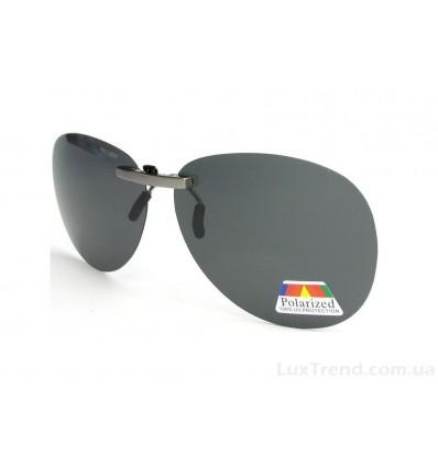 Клипсы накладки для водителей серые на очки оптические