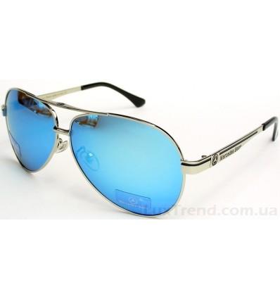 Солнцезащитные очки Mercedes-Benz 737 зеркальные голубые