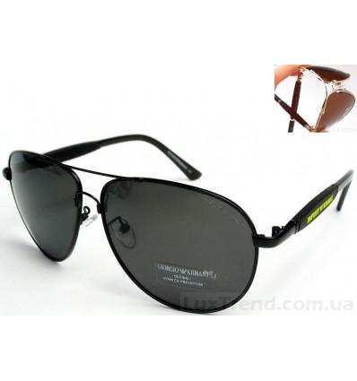 Солнцезащитные очки Armani 0002 Titanium черные