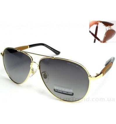 Солнцезащитные очки Armani 0002 Titanium градиент золото / серые