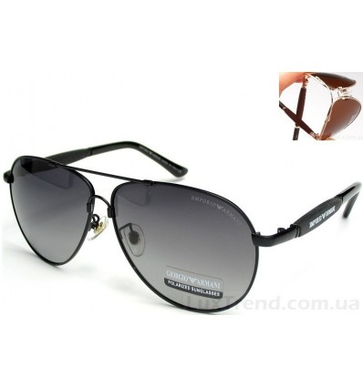 Солнцезащитные очки Armani 0002 Titanium градиент черные