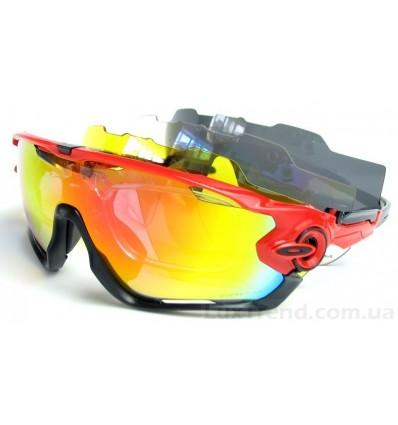 Солнцезащитные очки Oakley 0089 черно-красные