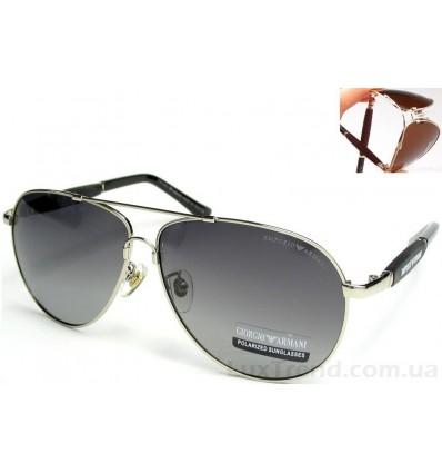 Солнцезащитные очки Armani 0002 Titanium градиент хром