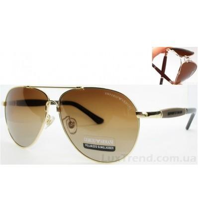 Солнцезащитные очки Armani 0002 Titanium градиент золото / кор