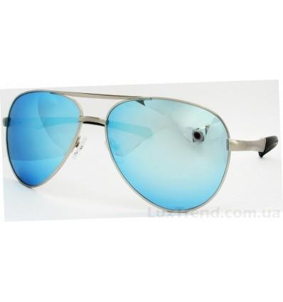 Солнцезащитные очки 8075 зеркальные голубые
