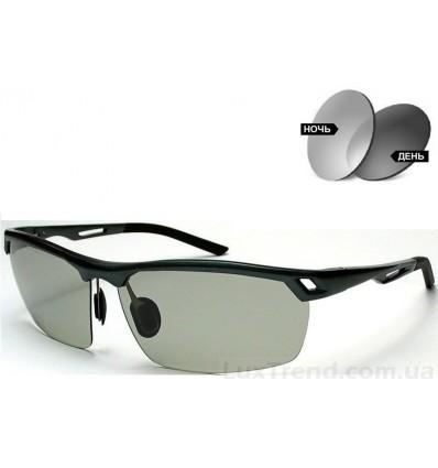 Солнцезащитные очки 8550 Aluminium хамелеоны антифары серые