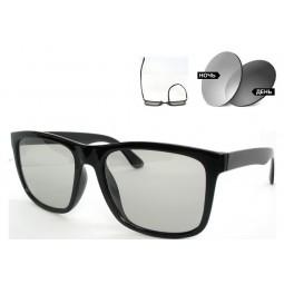 Солнцезащитные очки 5048 TR 90 фотохромные антифары серые