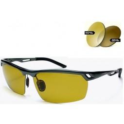Солнцезащитные очки 8550 Aluminium хамелеоны антифары коричневые