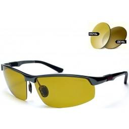 Солнцезащитные очки 3121 Aluminium хамелеоны антифары коричневые