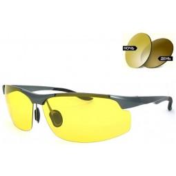 Солнцезащитные очки хамелеон (фотохромные) 8003 Aluminium коричневые